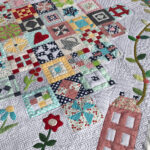 Under the Garden Moon Block of the Month Quilt with Custom Quilting