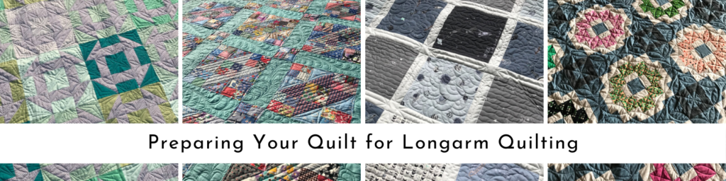 Preparing your quilt for longarm quilting banner
